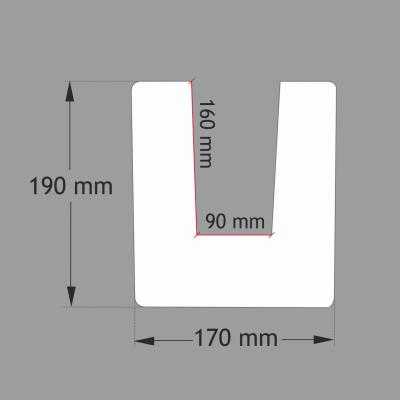 ED104 MODERN 2 metrų ilgio balkis (17x19) Tamsiai rudas