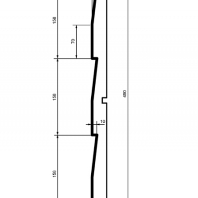 Panelė fasadui HC102-30