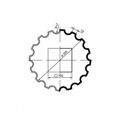 Puskolonė 1/2 LC101-21 (diam.255 mm)