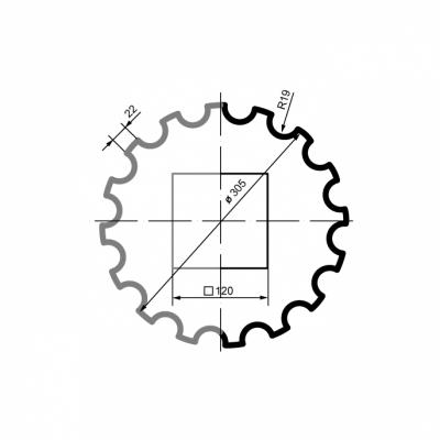 Puskolonė 1/2 LC102-21 (diam.305 mm)