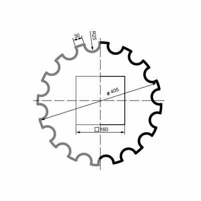 Puskolonė 1/2 LC103-21 (diam.405 mm)