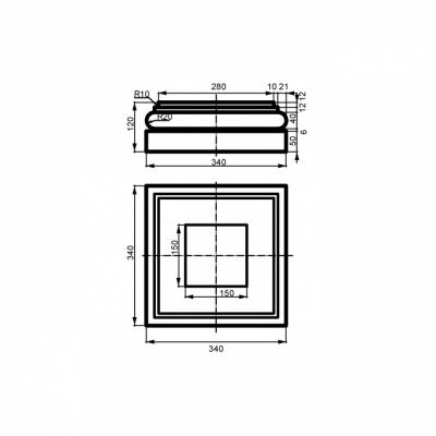 Bazė LC113-3 (340x340mm)