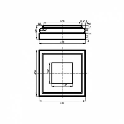 Bazė LC114-3 (400x400 mm)