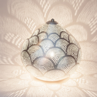 Table lamp Princess Fan LARGE silver