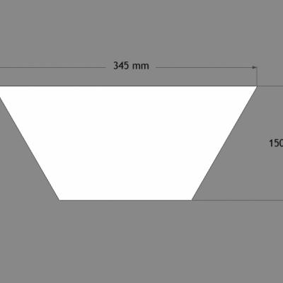 Dekoratyvinė plokštė  Trapezium W101
