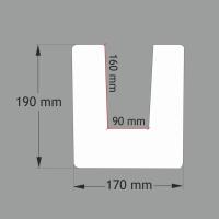 ED104 MODERN 2 metrų ilgio  balkis (17x19) Šviesiai rudas