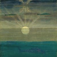M. K. Čiurlionis Saulė eina Žuvų ženklu