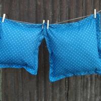 Pagalvėlė mėlyna (56x56cm)