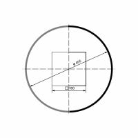 Puskolonė 1/2 LC103-2 (diam.405 mm)