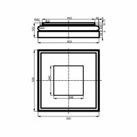 Bazė LC115-3 (500x500 mm)