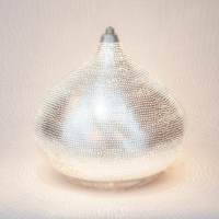 Table lamp Filisky LARGE silver (diam.30 cm)