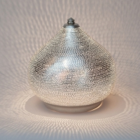 Table lamp Filisky SMALL silver (diam.21 cm)