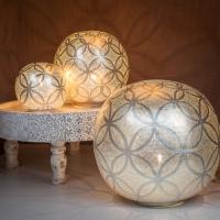 Table lamp Ball circles M (diam. 30)