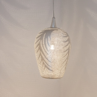 Tropic leaf SMALL silver (diam.20 cm)