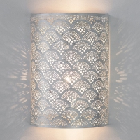 Wall lamp Cylinder Fan Silver