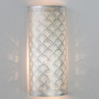 Wall Lamp Cylinder Fan LARGE silver
